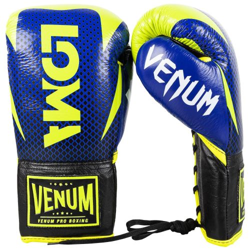 Venum Hammer Lace Pro Boxing Gloves Loma Edition - Blue/Yellow
